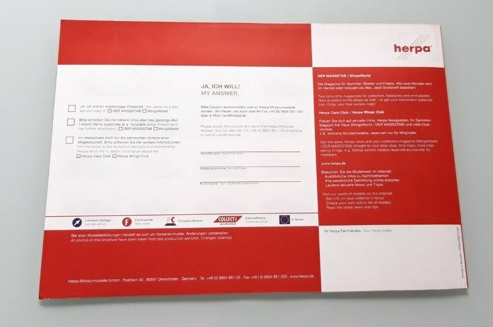 CATALOGUE HERPA COLLECTION COLLECTION COLLECTION 2003  2004 f12fd4