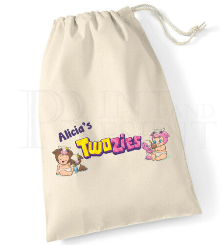 Personalised Twozies Collectibles Drawstring Storage Bag