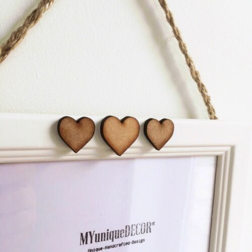 White Double or Triple Photo Wood Hanging Picture Frame Heart Handmade 6x8 6 X 8