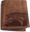 Indexbild 1 - Zander-Fisch-Angler-Geldboerse-Naturleder-Geldbeutel-Rindleder-Rustikal-Portmonai