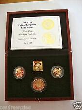 1997 GOLD BEWEIS DREI MÜNZE SET SAMMLUNG SOUVERÄN 1/2 HALB SOUVERÄN