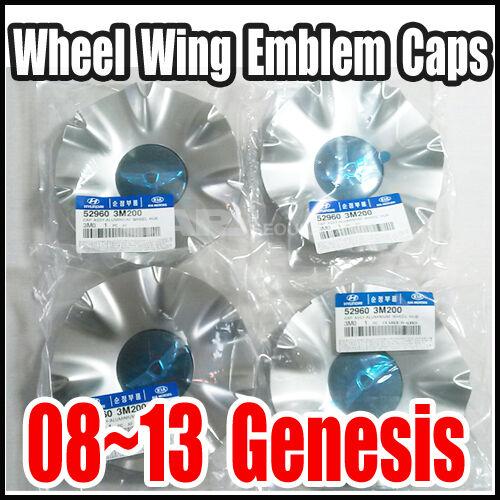 HYUNDAI 08-13 Genesis sedan 18inch  Wheel Wing Emblem Caps 52960-3M200 4pcs SET