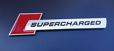 Audi Supercharged A3 S3 A4 S4 RS4 A5 S5 A6 S6 A7 S7 TT Euro S Line Badge Emblem