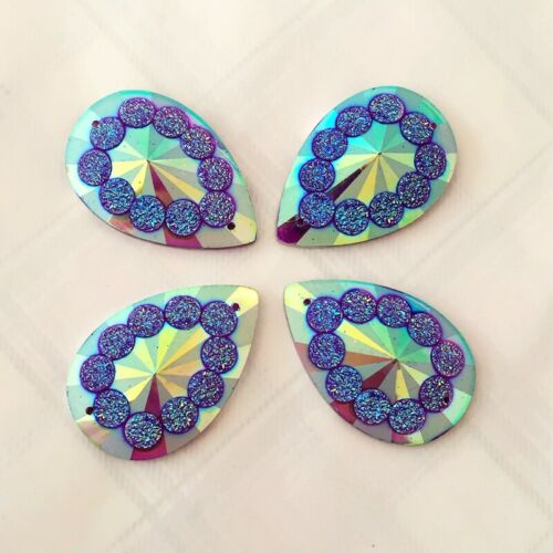 12pcs 20*30mm Tear drop Rhinestones Flat Back Resin Gems Crystal Stones DIY B29