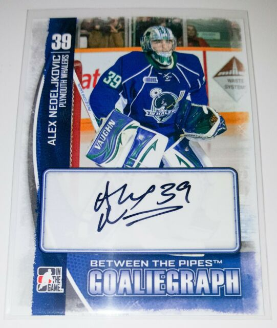2013-14 LEAF BETWEEN THE PIPES GOALIEGRAPH ALEX NEDELJKOVIC ROOKIE AUTO