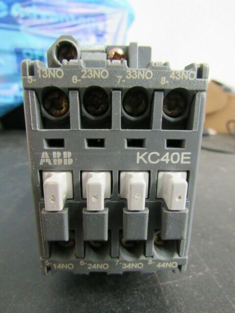 24V DC Coil KC40E ABB Control Relay Used