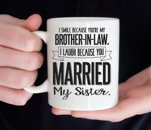 Funny Brother In Law Mug Funny Birthday Ceramic Mug Coffee Cup Gift For Men W...