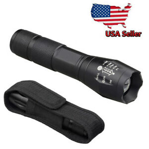 Tactical-Military-50000Lumens-LED-Flashlight-Torch-Zoom-G700-Grade-with-Holster
