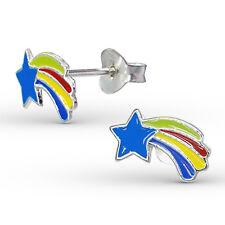 Pendientes De Plata Esterlina 925 - Brillante Fugaz Tachuelas Estrellas