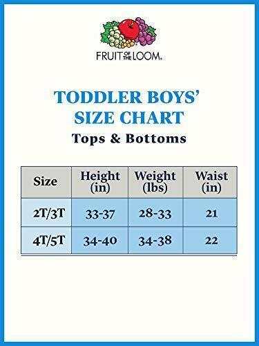 6 Pack White 4T//5T Fruit of the Loom Boys/' Cotton White T Shirt Toddler