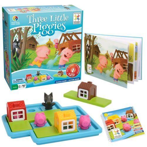 Three Little Piggies Game - Brain Teaser by Smart Games (SG019) NEW SEALED