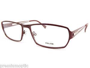 Police-metal-gafas-de-lectura-burdeos-Disenador-Monturas-opticas-RX-v8716-08du