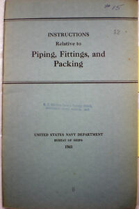 US-Navy-Naval-ASBESTOS-FIttings-Pipes-Piping-Packing-Gaskets-Boilers-1940s-WWII
