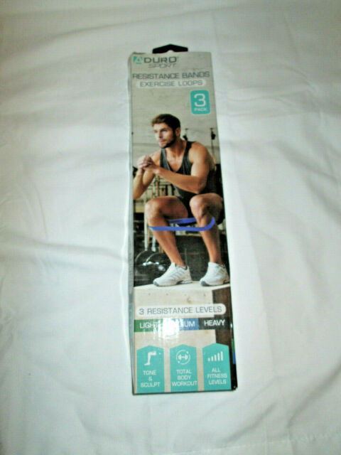 Aduro Sport Exercise Loop Bands Strength Training New Open Box 3 piece