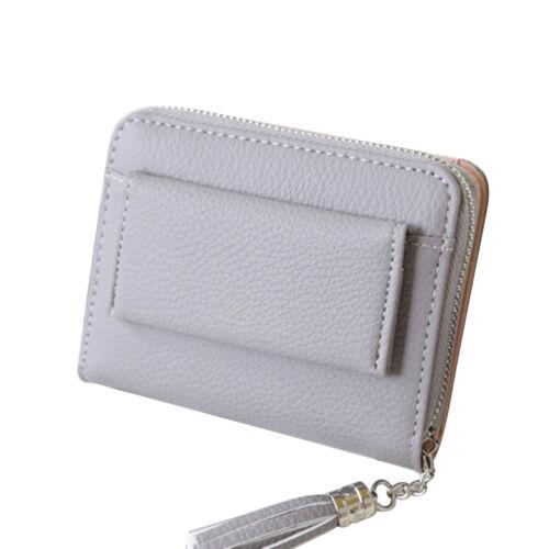 QA/_ LC/_ HOT WOMEN/'S RFID BLOCKING TASSELS FAUX LEATHER ZIPPER WALLET CLUTCH PU