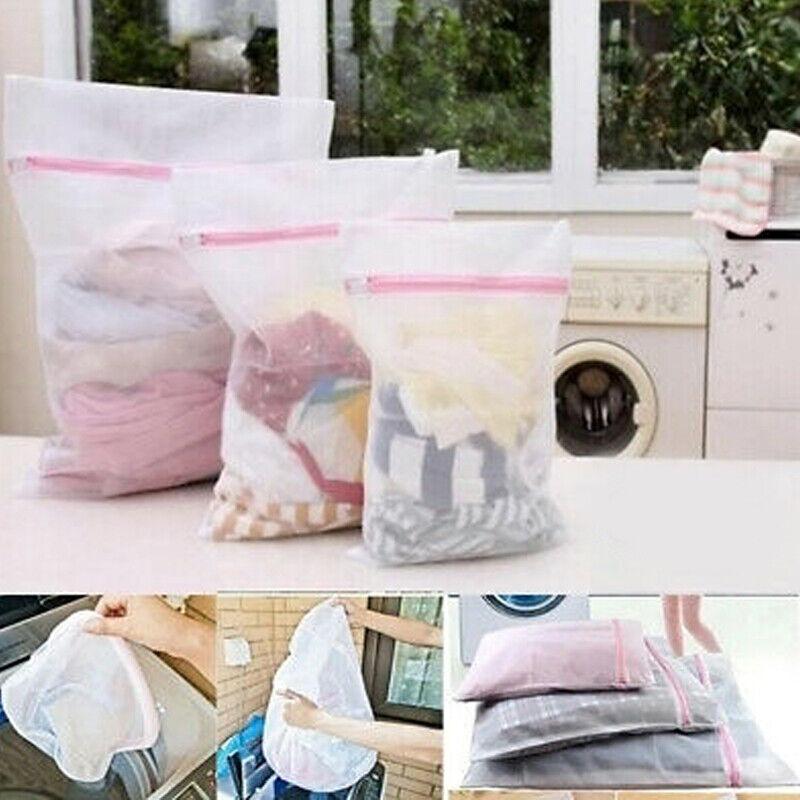 NEW Washing Machine Net Mesh Bag For Underwear Clothes Socks  Bra Aid Laundry
