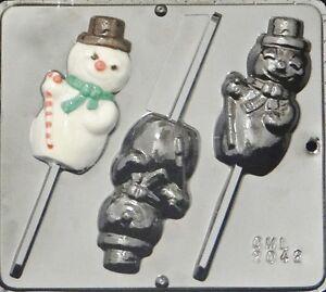 Snowman Lollipop Chocolate Candy Mold Christmas 2118 NEW