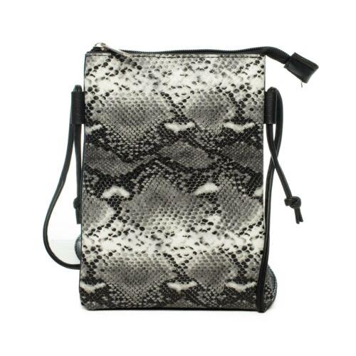 Tasche Schultertasche kleine Tasche Animal-Optik Umhängetasche Reptilien Look