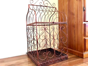 Iron-French-Provincial-Planter-Bird-Cage-Wedding-Wishing-Well-CPR-80x42x42cm