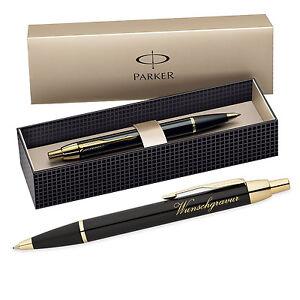 PARKER-dans-le-stylo-incl-GRAVURE-avec-Geschenkbox-Couleur-Noir-Dore