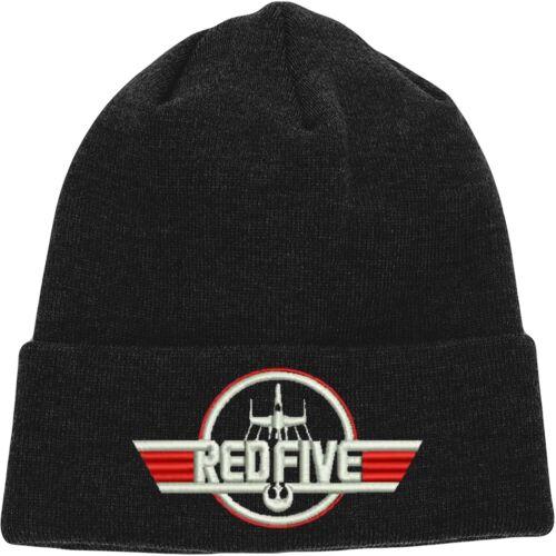Red Five Embroidered Design Star Wars Design Hat Top Gun Beanie