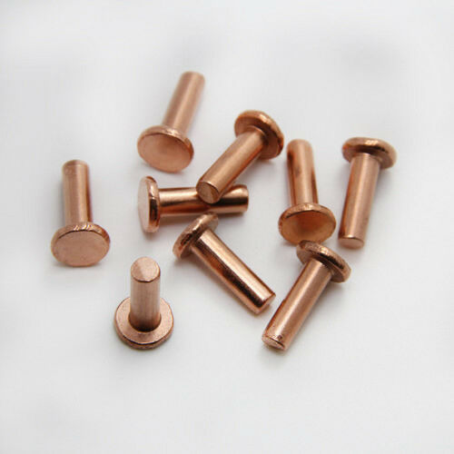 M3x3mm-30mm Length Copper Rivets Flat head Brass Solid Percussion Rivet GB109