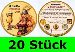 20 Stück Bierdeckel Detmolder Thusnelda-Bier Detmold Strate Brauerei Bar Theke #