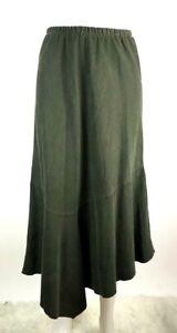 Bryn-Walker-Small-Women-039-s-Skirt-Pull-On-Elastic-Waist-Corduroy-Midi-Asymmetrical