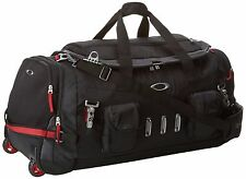 New Men's OAKLEY Hot Tub Bag - 92550-001 Black Duffle Bag With Wheels MSRP $325
