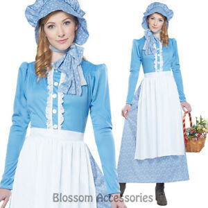 CA51-Pioneer-Lady-Pilgrim-Colonial-Thanksgiving-Fancy-Dress-Historical-Costume