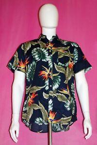 3a785506 Navy XL Dioufond Men's Casual Button Down Short Sleeve Cotton ...
