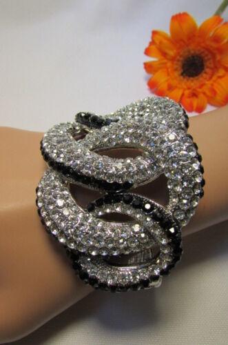 Fancy Women Bling Bracelet Fashion Gold Silver Black Trendy Jewelry Braided Cuff