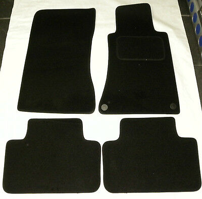 Tailored Black Car FLOOR Mats for MERCEDES C CLASS W203 SALOON 2000 TO 07 B1162