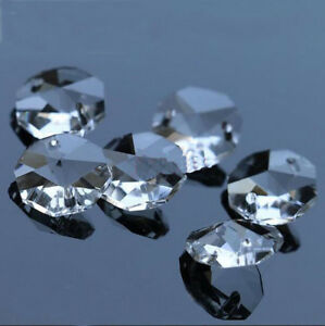 200PCS-14MM-Clear-Crystal-Octagonal-beads-Decoration-Crystal-chandelier-parts