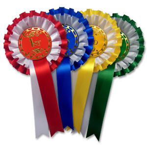 Dog Rosettes 2 Tier 1st-4th x 1 Set of Rosettes FREE POSTAGE