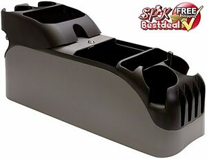 car center console clutter seat universal charcoal cup holder car phone drink ebay. Black Bedroom Furniture Sets. Home Design Ideas