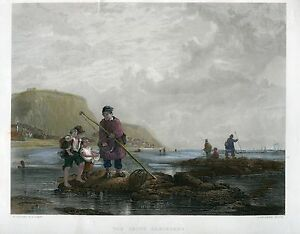 The-Young-Shrimpers-Engraving-By-A-Willmore-Over-Artwork-Of-W-Collins