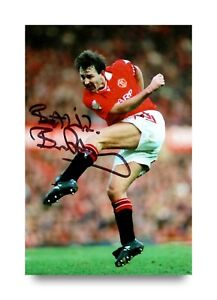 Bryan-Robson-Signed-6x4-Photo-Manchester-United-England-Genuine-Autograph-COA