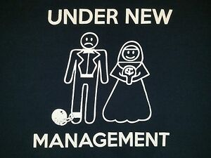 Under-New-Management-T-Shirt-Funny-Newly-Married-Couple-Marriage-Ball-and-Chain