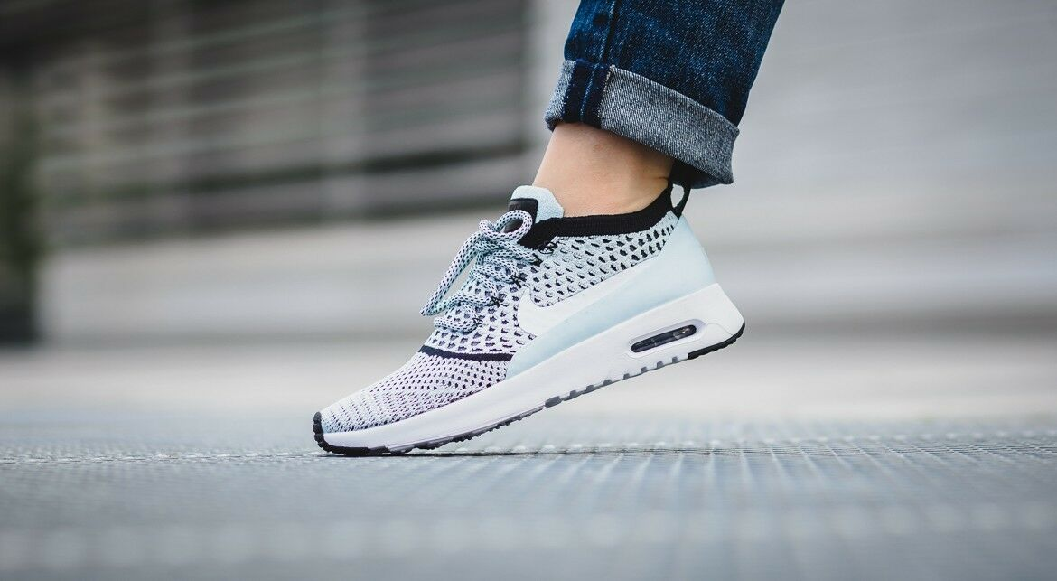Nike Air Max Thea Ultra FK Flyknit femmes 881175-400 881175-400 881175-400 Glacier Bleu Turquoise Rare 660825