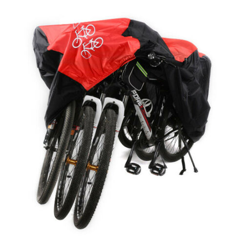 New Waterproof For 3 Bike Bicycle Scooter Cover Rain Dust Protector Storage Bag