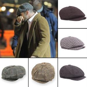 La foto se está cargando UK-Style-Para-Hombre-Tweed-noticiero-cap-palida- 67e648a81084