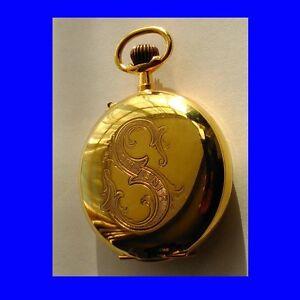 Stunnning-14k-Gold-Roskopf-Patent-Hunter-Pocket-Watch-1900
