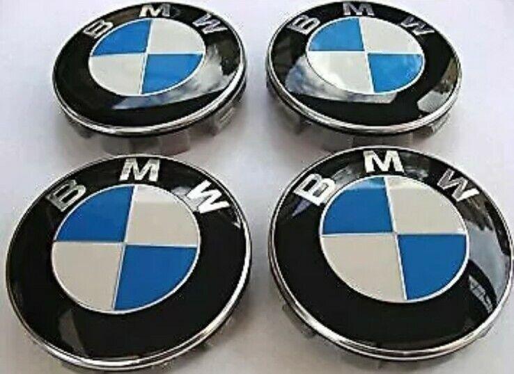 4 Tappi Coprimozzo BMW Berlina Touring Coupè Cerchi in lega Tutti Modelli 68mm