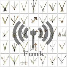 Funkuhrwerk Funk DCF Radio lautlos ger/äuschlos Quarz-Uhrwerk Uhrzeiger Satz Zeiger Silber 30 mm #52 Silber, M: Ziffernblattdicke 1-4 mm mit Wandaufh/ängung