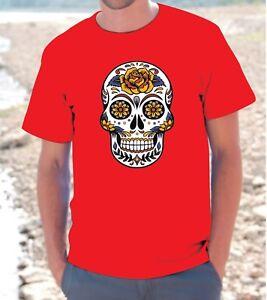 Shirt Messicano T Unisex Uomo Donna Maglietta Teschio Skull Tribal mw8n0OyNv