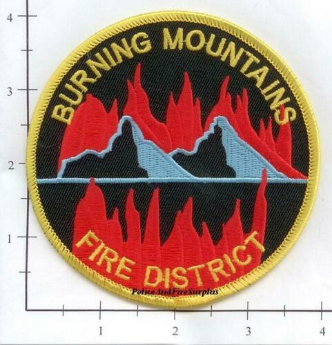 Colorado Burning Mountains Fire District CO Fire Dept Patch