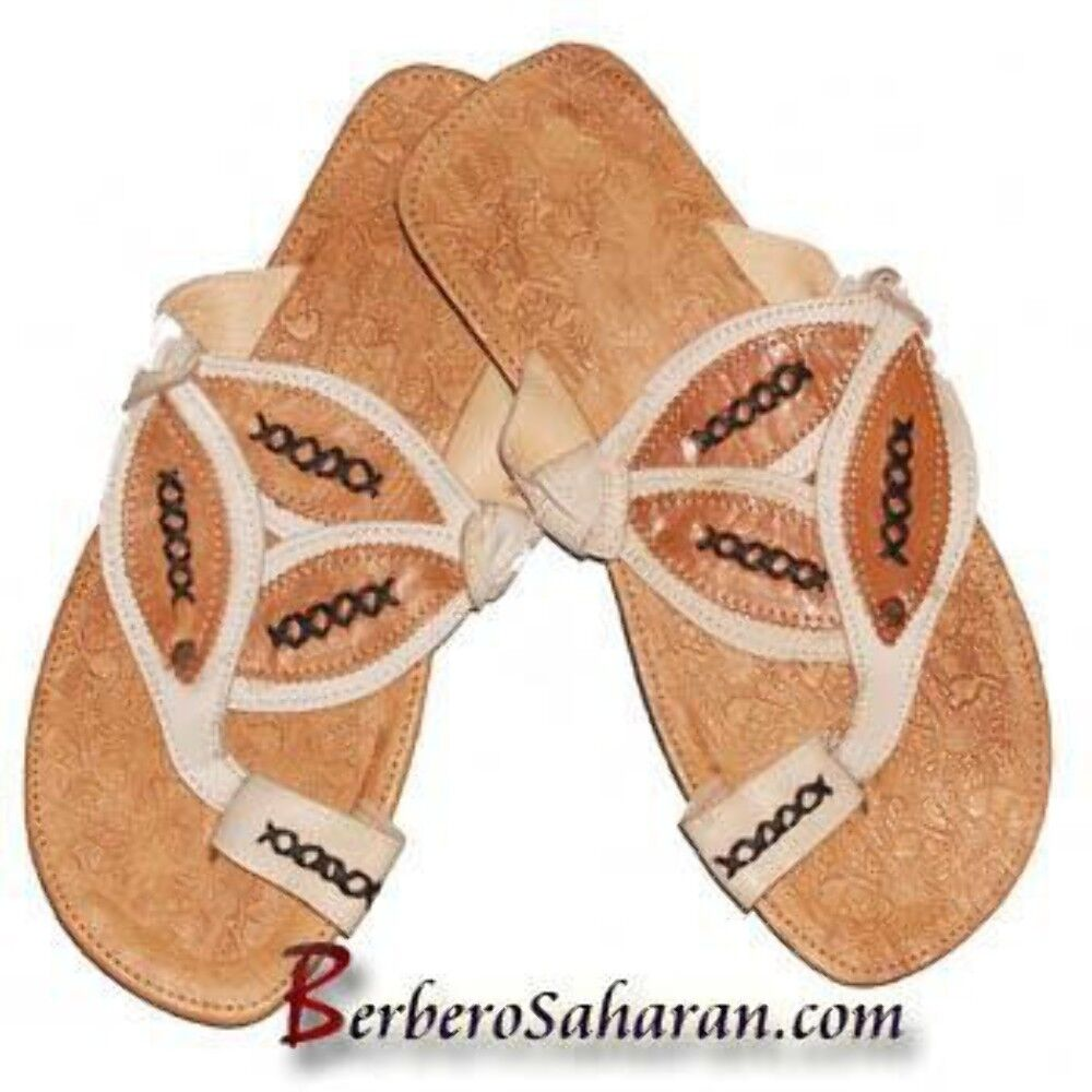 Handmade Algerian Thongs with pure leather - For Men style 1
