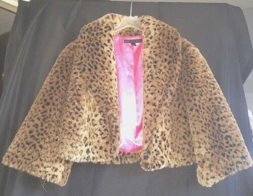 Kort Pink Længde Leopard Midje Sheri Faux Kina M Bodell Lining Pels Jakke AqwHdB0A