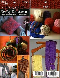 Provo-Craft-Knitting-w-Knifty-Knitter-Loom-Pattern-Booklet-II-NEW-FAST-SHIP